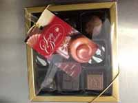 9 Pack Moulded chocolates in a Gold Box